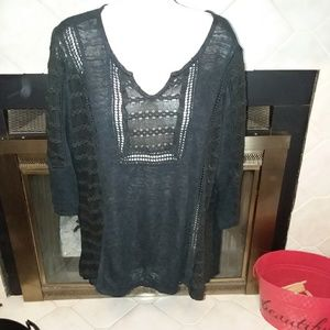 Cato 3/4 sleeve top sz 18/20